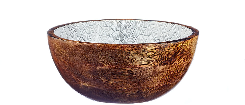 Saladier en bois de manguier Ø24cm - Dune Eclipse