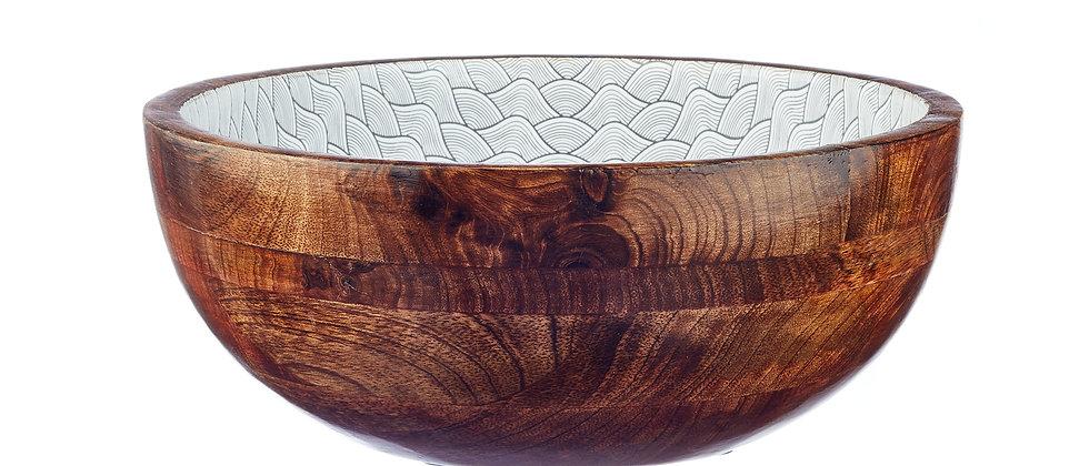 Saladier en bois de manguier Ø30cm - Dune Eclipse
