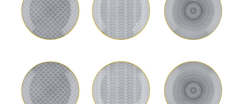 Assiette à dessert Ø21cm - 6 pièces - Collection ECLIPSE