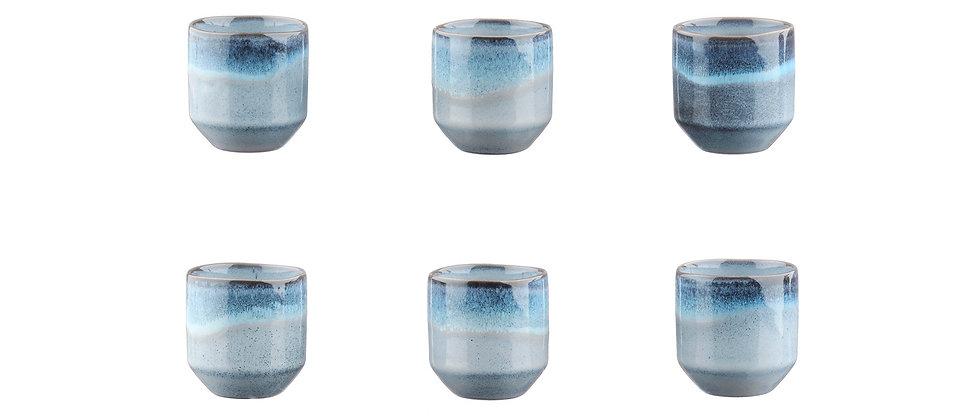 Tasse GENESIS 15cl - 6 pièces - Mer