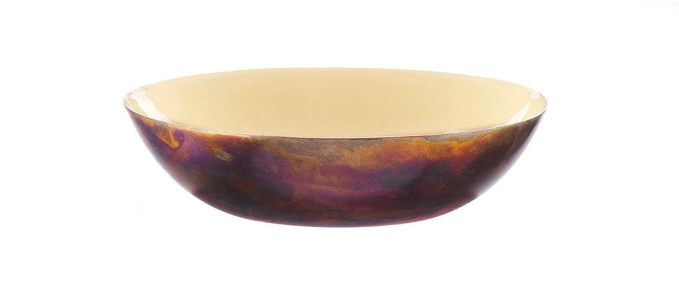 Corbeille à fruits en métal Ø25cm - Sable