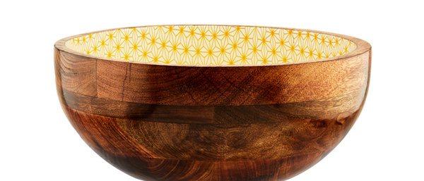 Saladier en bois de manguier Ø30cm - Star Color