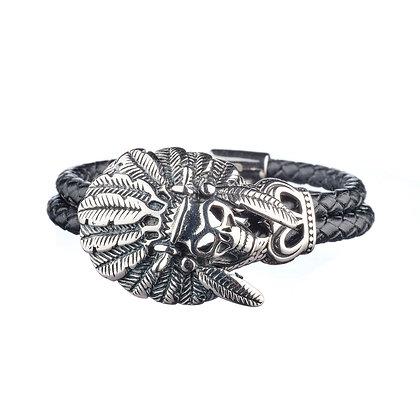 Bracelet Pyramides - cuir