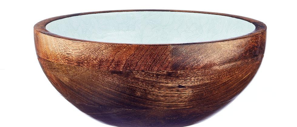 Saladier en bois de manguier Ø30cm - Storm Pastel