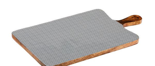 Planche de service en bois de manguier 27x48cm - Square Dark