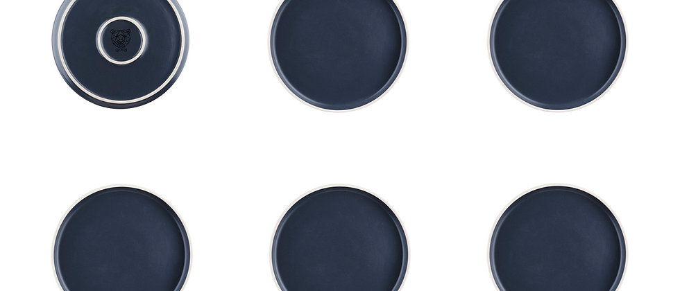 Assiette ORIGIN Ø20,5cm - 6 pièces - Basalte