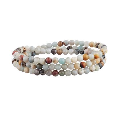 Bracelet Tuileries blanc - pierres naturelles