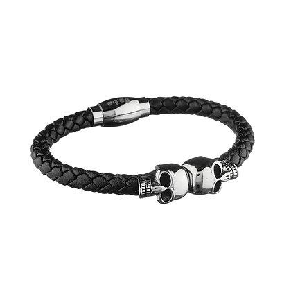 Bracelet Sully métal - cuir