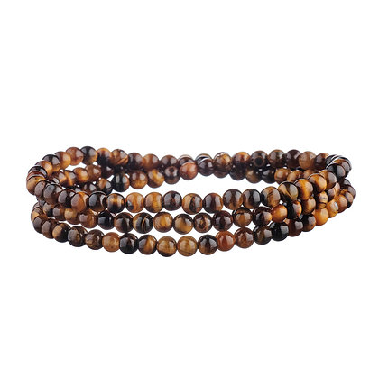 Bracelet Tuileries marron - pierres naturelles
