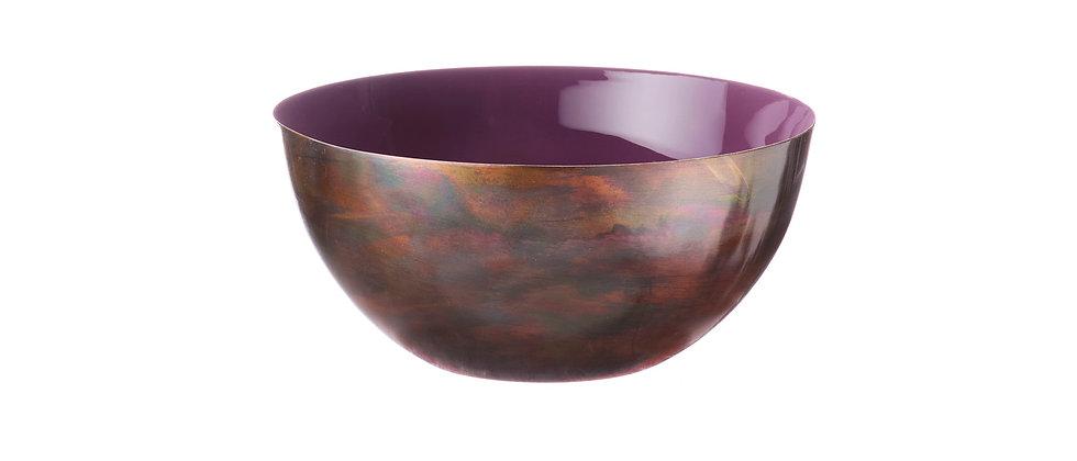 Saladier en métal Ø20cm - Prune