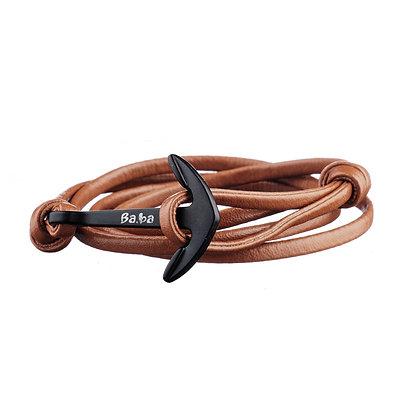 Bracelet Abbesses camel - cuir