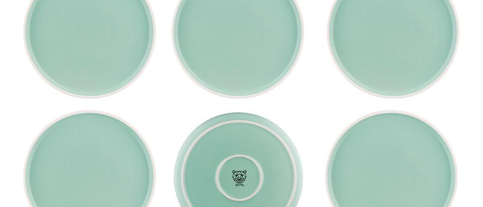 Assiette ORIGIN Ø26,5cm - 6 pièces - Jade