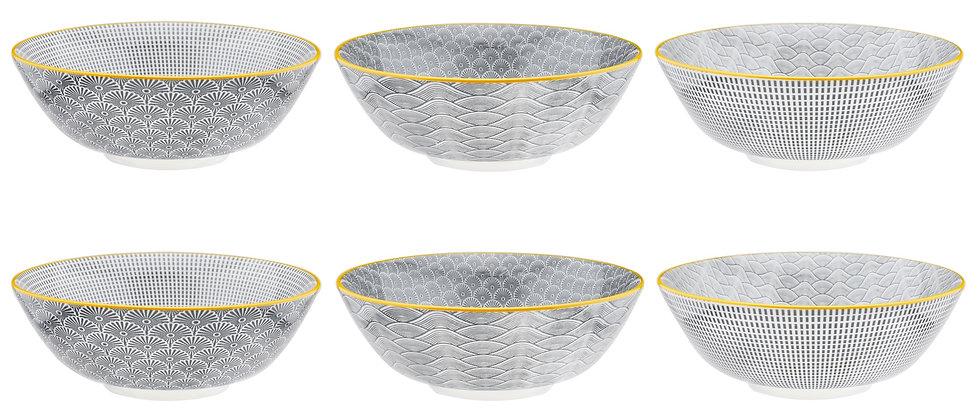 Bol à salade Ø21cm - 6 pièces - Collection ECLIPSE