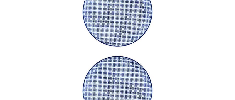 Assiette plate Ø26cm Square - 2 pièces - Collection DARK
