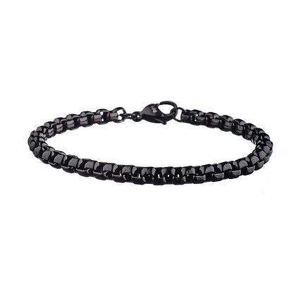 Bracelet Agnettes noir - acier