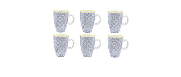 Tasse à café 9cl Flower - 6 pièces - Collection ECLIPSE