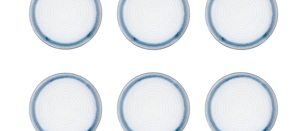 Assiette COSMOS Ø21,5cm - 6 pièces - Azur