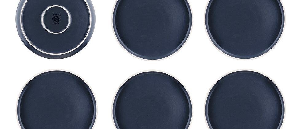 Assiette ORIGIN Ø26,5cm - 6 pièces - Basalte