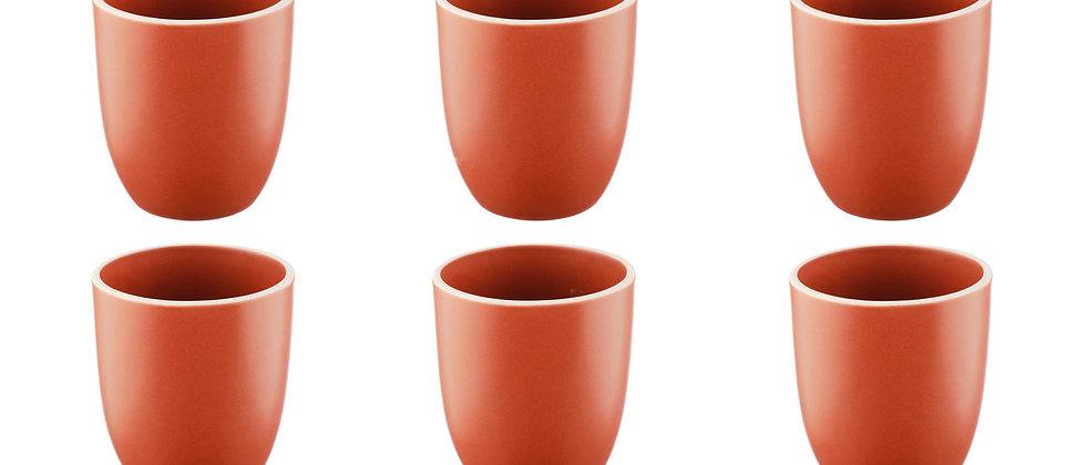 Mug ORIGIN 20cl - 6 pièces - Terracotta