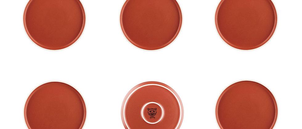 Assiette ORIGIN Ø20,5cm - 6 pièces - Terracotta