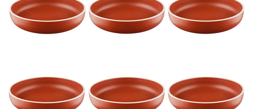 Assiette creuse ORIGIN Ø22cm - 6 pièces - Terracotta