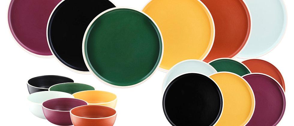 Service Les Essentiels ORIGIN - 18 pièces - Color mix