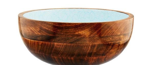 Saladier en bois de manguier Ø30cm - Swirl Color