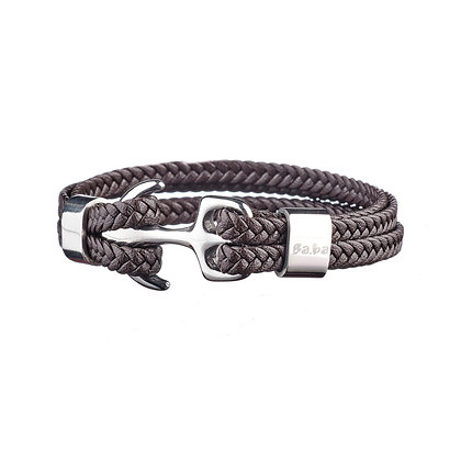 Bracelet Raspail marron - cuir