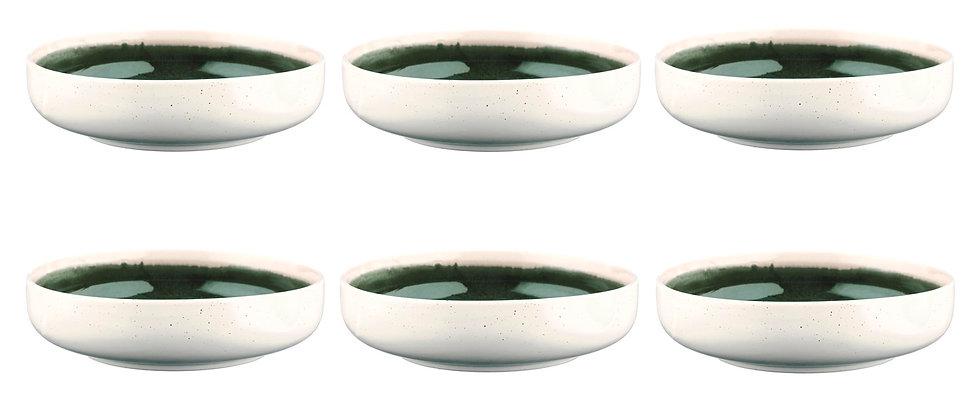 Bol OXYGEN Ø22cm - 6 pièces - Vert de gris