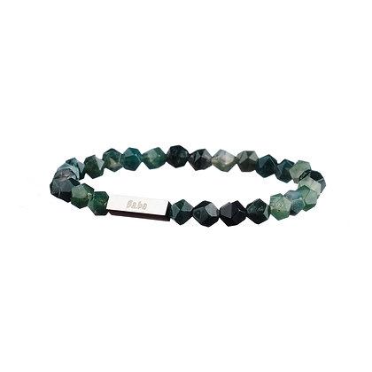 Bracelet Vaugirard noir et gris - pierres naturelles