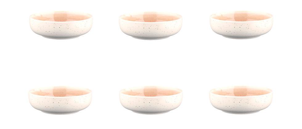Bol OXYGEN Ø13cm - 6 pièces - Rose poudre