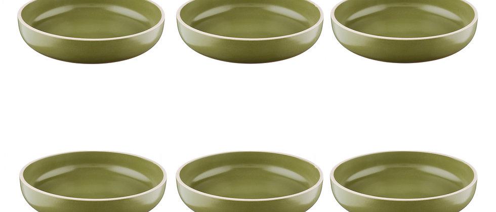 Assiette creuse ORIGIN Ø22cm - 6 pièces - Argile