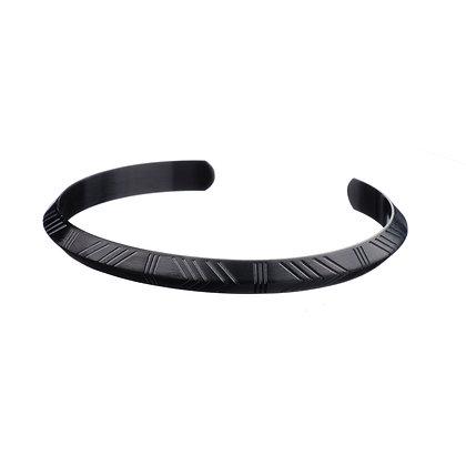 Bracelet Invalides noir - acier