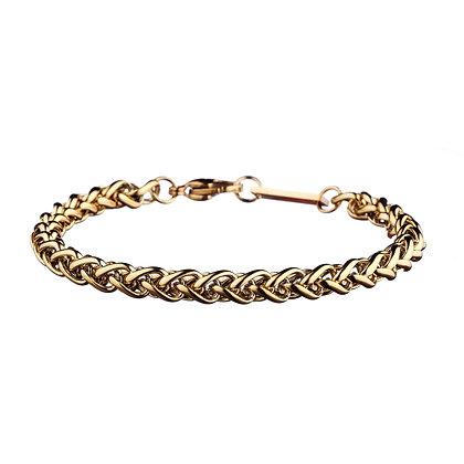 Bracelet Châtillon doré - acier