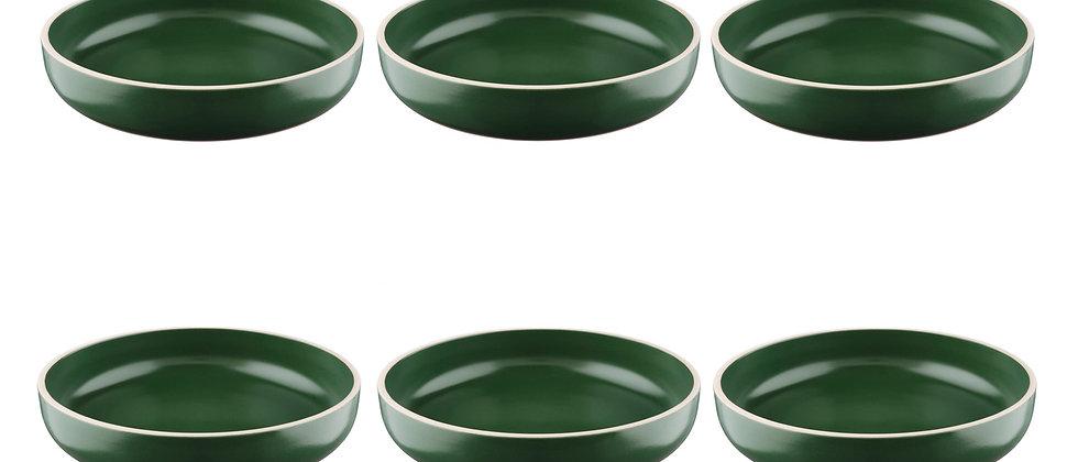 Assiette creuse ORIGIN Ø22cm - 6 pièces - Sapin