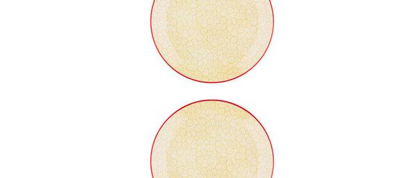 Assiette plate Ø26cm Swirl - 2 pièces - Collection COLOR