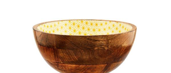Saladier en bois de manguier Ø24cm - Star Color