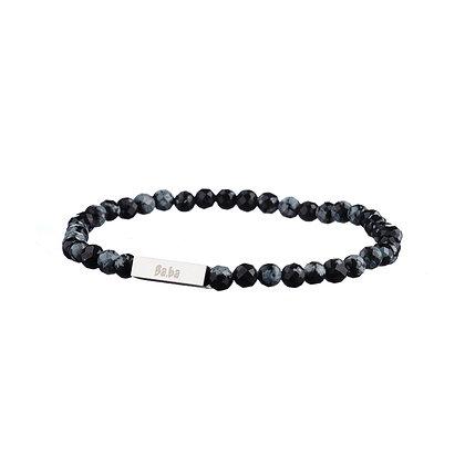 Bracelet Mirabeau gris - pierres naturelles