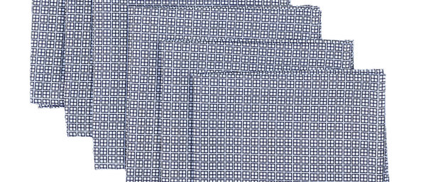 Serviette 40x40cm - 6 pièces - Square Dark