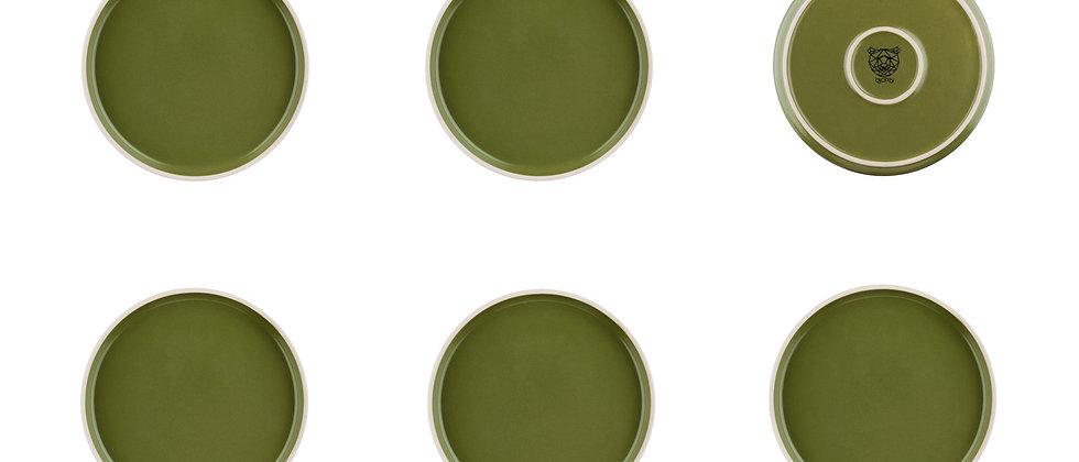 Assiette ORIGIN Ø20,5cm - 6 pièces - Argile