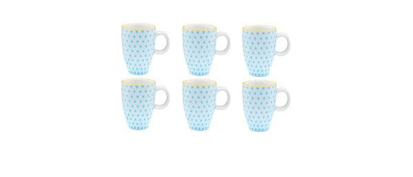 Tasse à café 9cl Star - 6 pièces - Collection COLOR