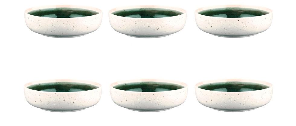 Bol OXYGEN Ø17,5cm - 6 pièces - Vert de gris