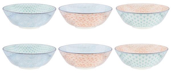 Bol à salade Ø21cm - 6 pièces - Collection PASTEL