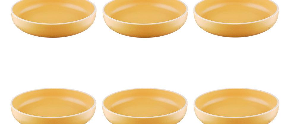 Assiette creuse ORIGIN Ø22cm - 6 pièces - Safran