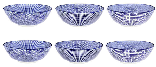 Bol à salade Ø21cm - 6 pièces - Collection DARK