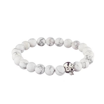 Bracelet Belleville blanc - pierres naturelles