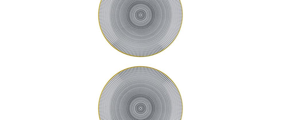 Assiette plate Ø26cm Sun - 2 pièces - Collection ECLIPSE