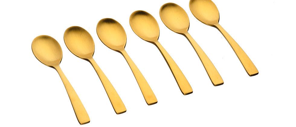 Coffret 6 petites cuillères Oglu - Gold