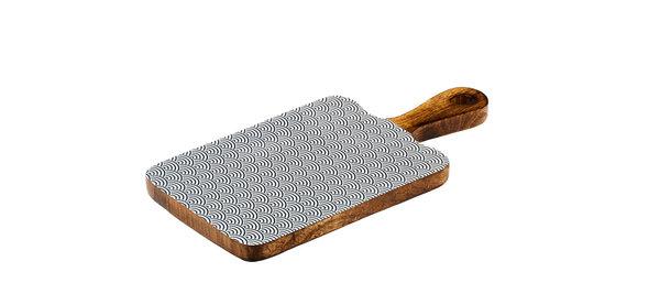 Planche de service en bois de manguier 15x30cm - Wave Dark
