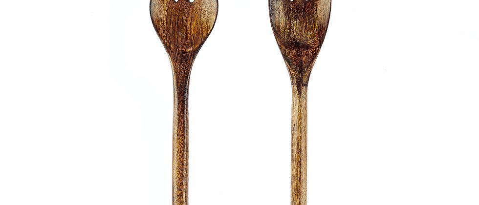 Couverts à salade en bois de manguier - Nude